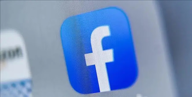 Facebook icon on tablet screen. Photo: AFP