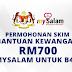 Permohonan Skim Bantuan Kewangan RM700 MySalam Untuk B40
