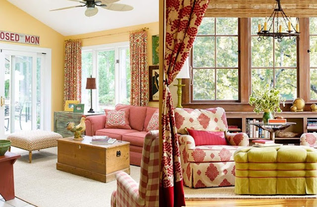 red and yellow living room decorating ideas