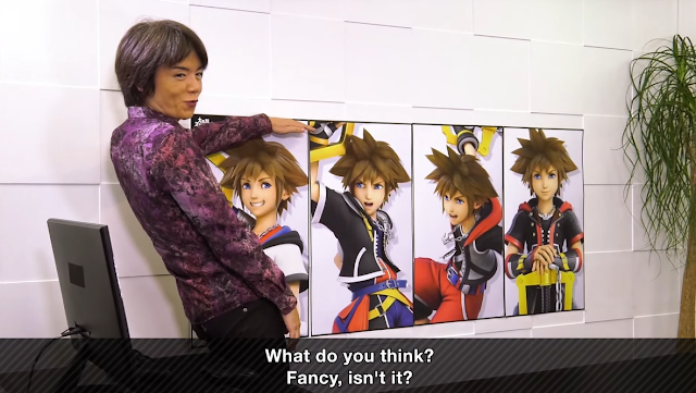 Masahiro Sakurai Sora Kingdom Hearts posters Super Smash Bros. Ultimate