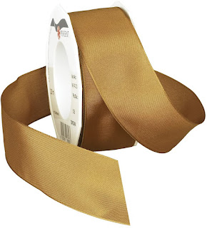Gold Taffeta Ribbons For Craft or Decor Projects