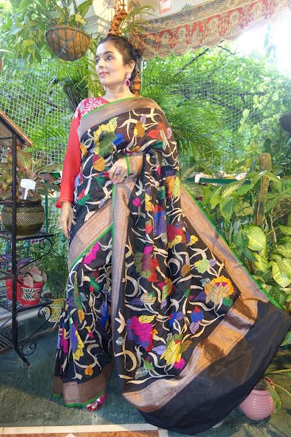 Banarasi soft silk Ektara saree with kaduwa jaal