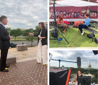 Picture collection of Stephanie Ruhle while working