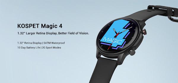 KOSPET MAGIC 4 - Um smartwatch barato bem conseguido