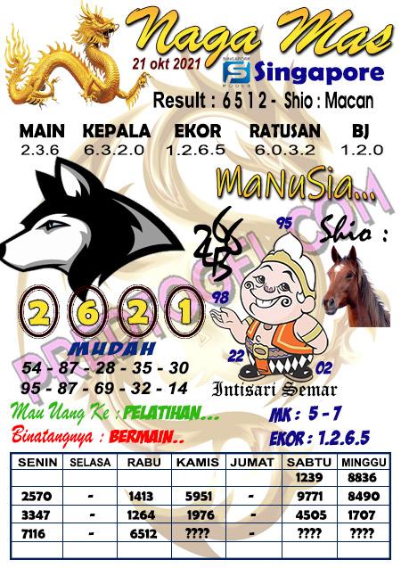 Prediksi Syair Naga Mas SGP Kamis 21 Oktober 2021