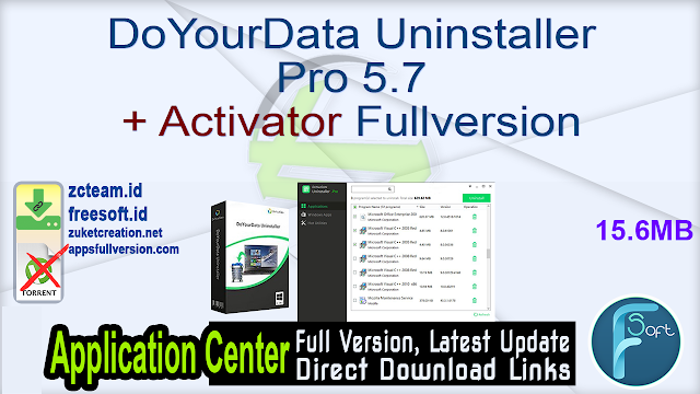 DoYourData Uninstaller Pro 5.7 + Activator Fullversion