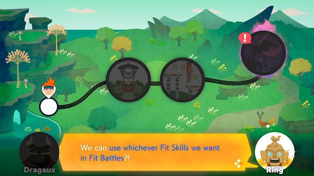 Ring Fit Adventure Dragaux gives level 4 Fit Skills dialogue