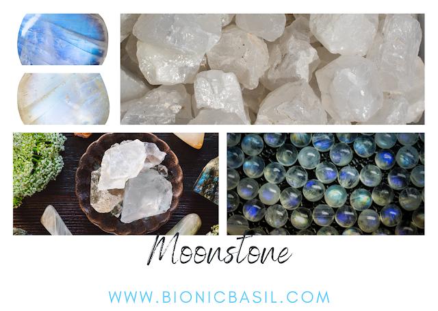 samples of moonstone crystals, moonstone crystals, healing crystals
