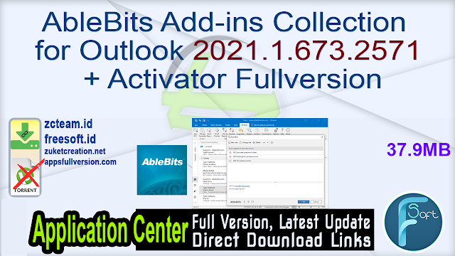 AbleBits Add-ins Collection for Outlook 2021.1.673.2571 + Activator Fullversion