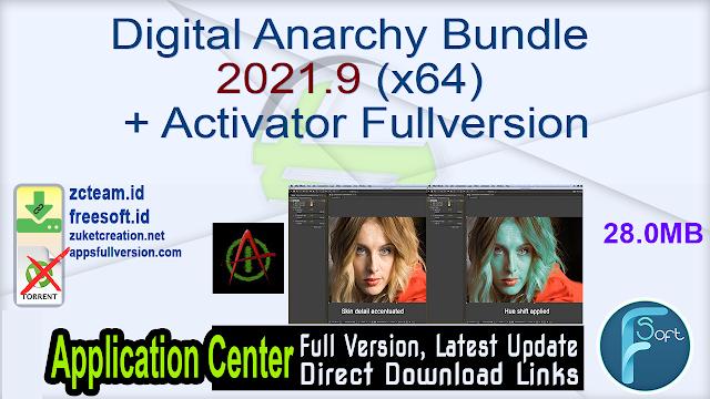 Digital Anarchy Bundle 2021.9 (x64) + Activator Fullversion