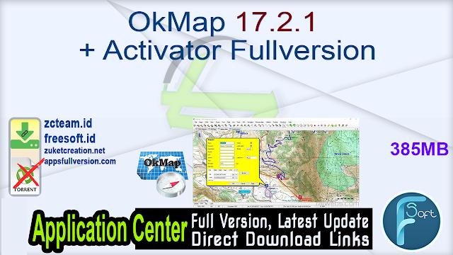 OkMap 17.2.1 + Activator Fullversion