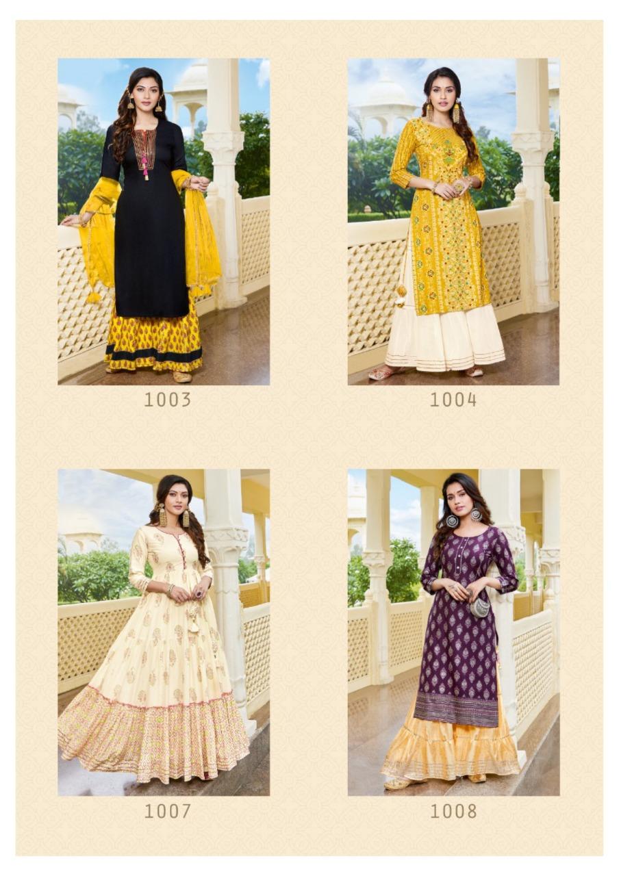 Diya Trends Festival Tadka Vol 1 Kurtis Catalog Lowest Price
