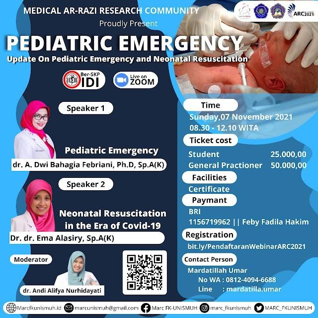 "(SKP IDI) PEDIATRIC EMERGENCY WEBINAR  with theme : "" Update On Pediatric Emergency and Neonatal Resuscitation"""