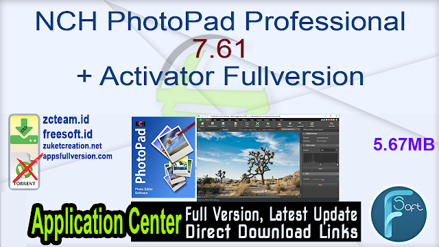 NCH PhotoPad Professional 7.61 + Activator Fullversion