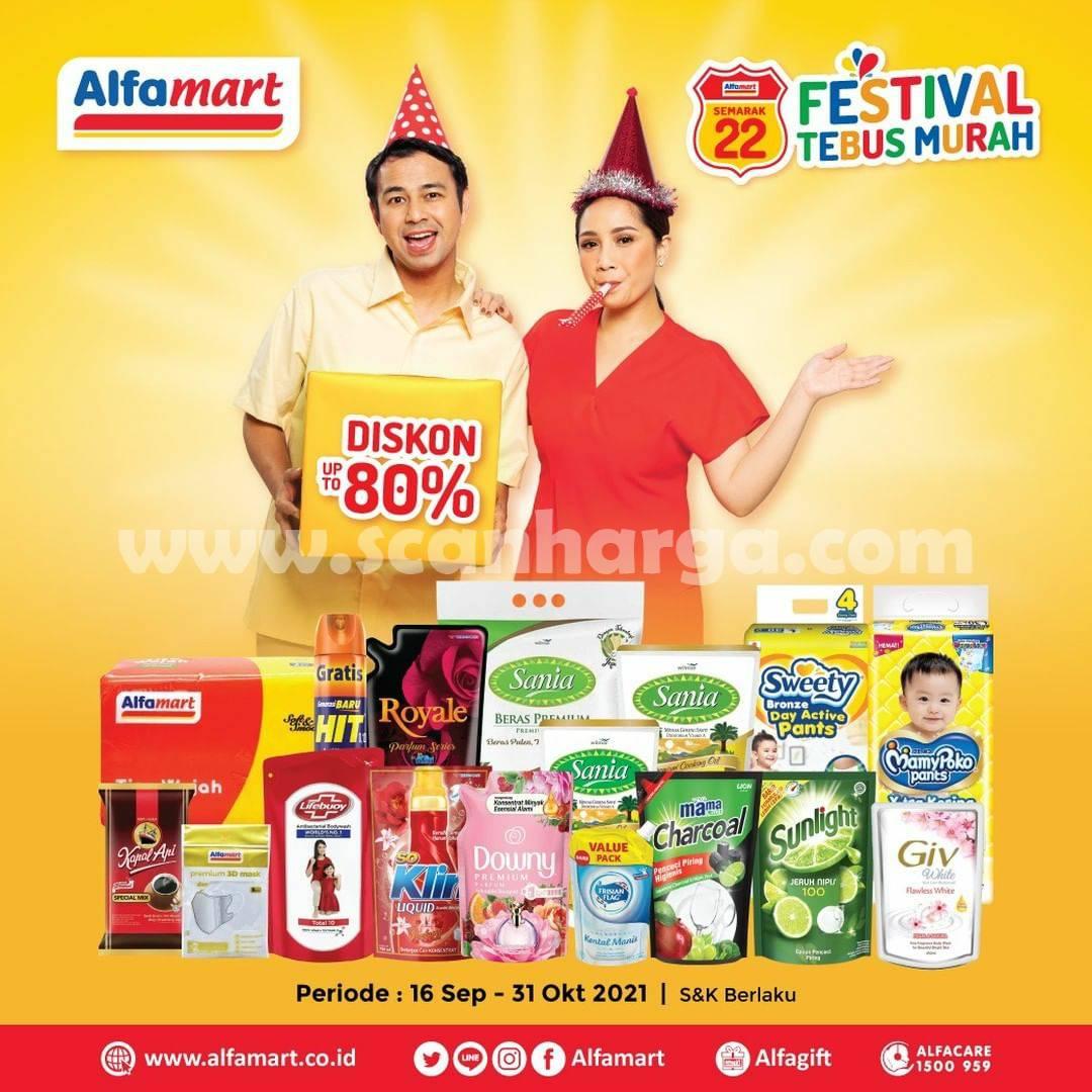 Promo ALFAMART FESTIVAL TEBUS MURAH 16 – 31 Oktober 2021