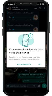 como enviar videos que se eliminan al verse WhatsApp