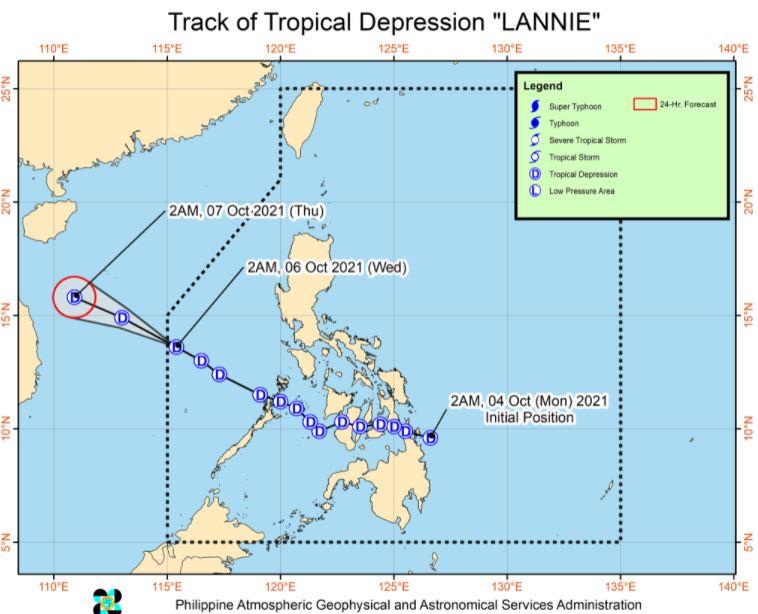 'Bagyong Lannie' PAGASA track