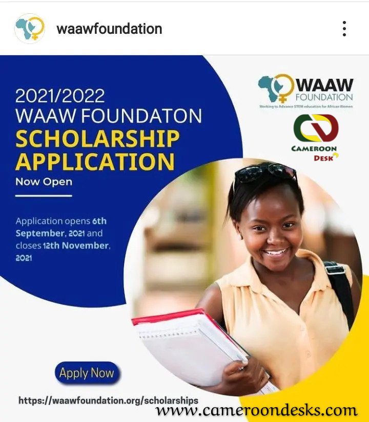 WAAW Foundation Scholarship for African Female Students 2021-2022