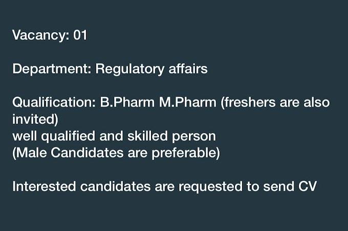 Regulatory affairs For Fresher Students
