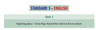 5th English Basic Quiz Answer key