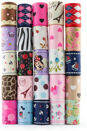 Cute Stripe Grosgrain Ribbons for Accessories