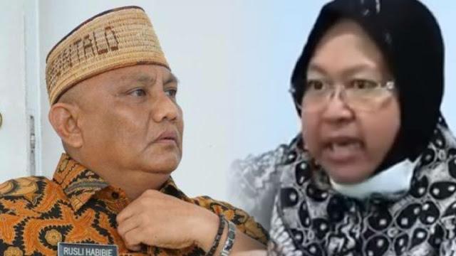 Gubernur Gorontalo Tersinggung Risma Ngamuk dan Teriak 'Tembak' di Rapat Bansos