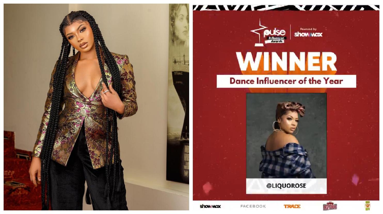 BBNaija: Liquorose emerges the winner of Dance Influencer of the Year(See photos)