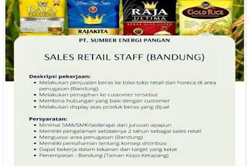Loker Bandung Sales Retail Staff PT Sumber Energi Pangan