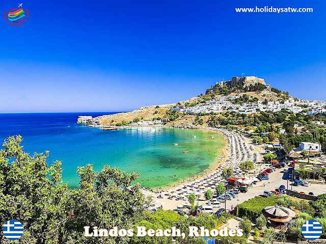 Famous beaches in Rhodes