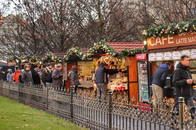 Christmas Market Prague Stalls