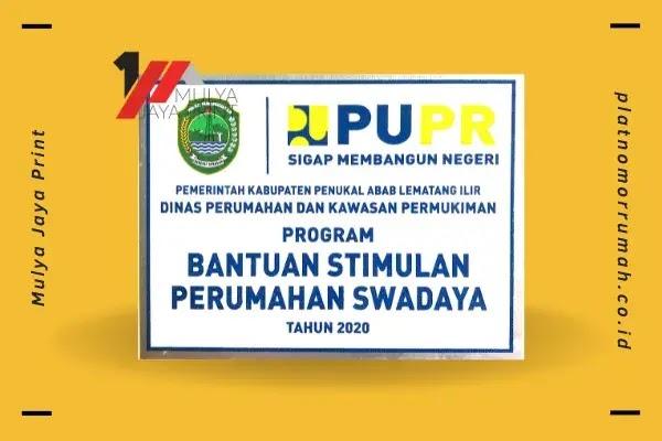 Plat Nomor Rumah (PUPR)  Prov. Sumsel