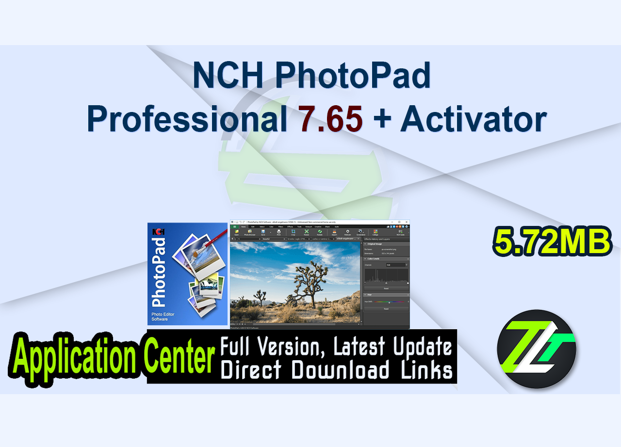 NCH PhotoPad Professional 7.65 + Activator