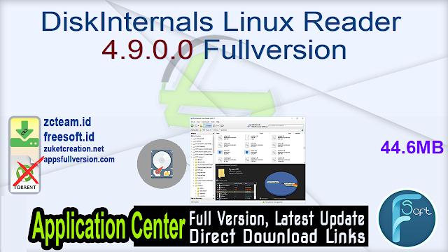 DiskInternals Linux Reader 4.9.0.0 Fullversion