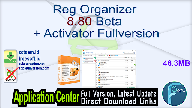 Reg Organizer 8.80 Beta + Activator Fullversion