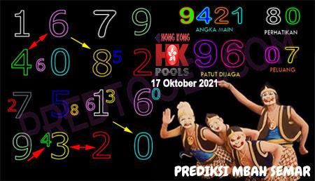 Prediksi Mbah Semar HK Malam Ini 17 Oktober 2021
