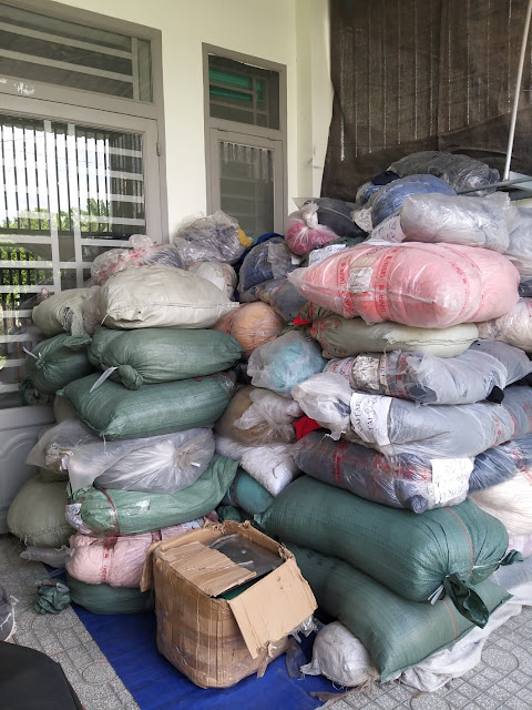 Lô 1,1 tấn vải khúc, cây lỡ tồn kho cotton trơn 2 chiều, 4 chiều tại Đồng Nai