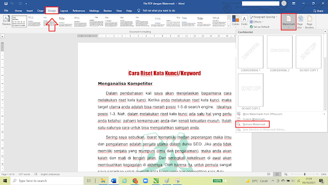 Cara Menghapus atau Menghilangkan Watermark pada File PDF dengan Mudah