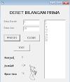 Visual Basic Deret Bilangan Prima