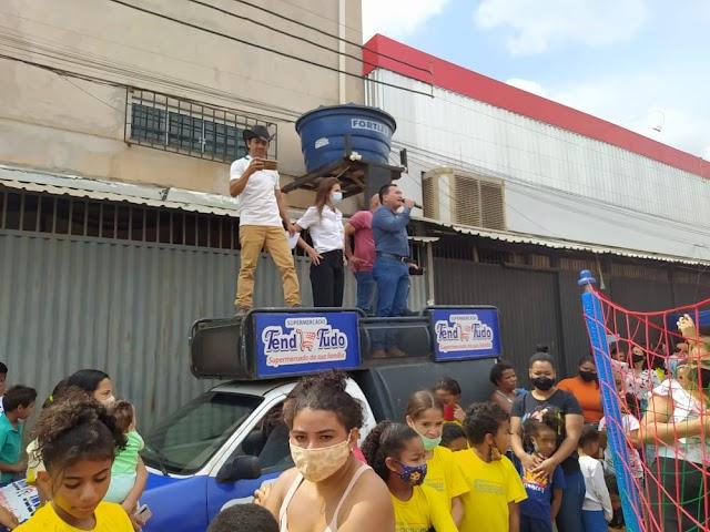 Uma super Festa na Estrutural! No Supermercado Tend de Tudo promove ação social para crianças da cidade. Confira