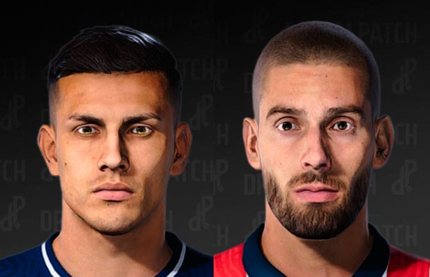 Leandro Paredes & Yannick Carrasco Face For eFootball PES 2021