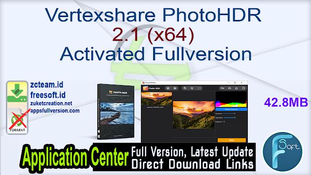 Vertexshare PhotoHDR 2.1 (x64) Activated Fullversion