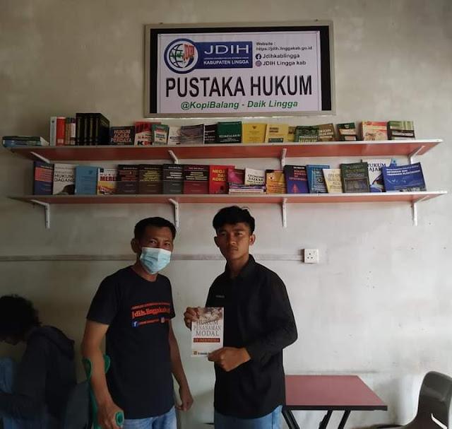 Cerdaskan Masyarakat Dibidang Hukum, Pemkab Lingga Buat Perpustakaan di Tempat Publik