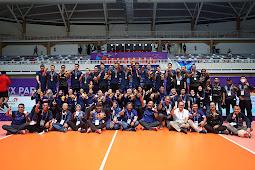 Tim Putra Jawa Barat Sabet Medali Emas Cabor Voli Indoor PON XX
