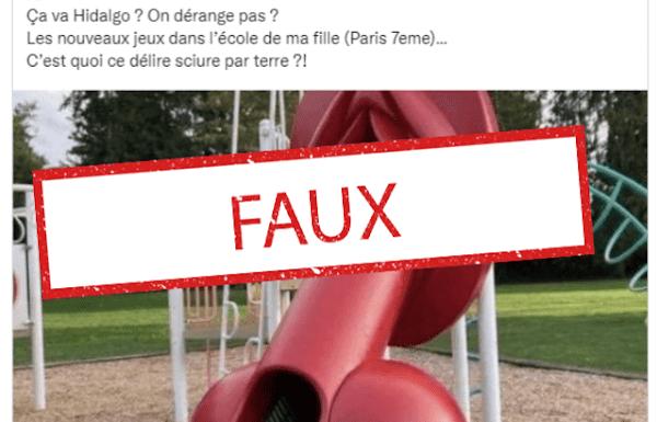 [FAKE OFF] Paris : Non, un toboggan obscène n'a pas été installé dans une école