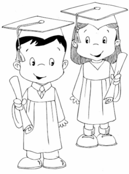 Graduation Coloring Pages Pdf For Kids