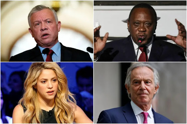 Some of the dozens of famous people named in the Pandora Records. Photo: Reuters