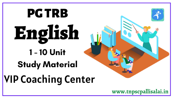 PG TRB English Uint 1 - 10 Study Material
