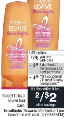 L'Oreal Elvive Shampoo CVS Deal 8/22-8/28
