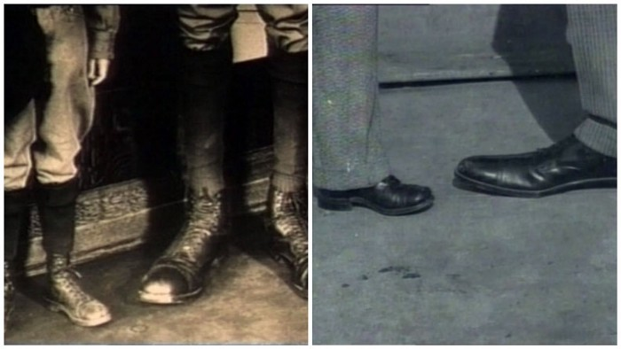 A comparison between an averege-sized foot and Robert's foot