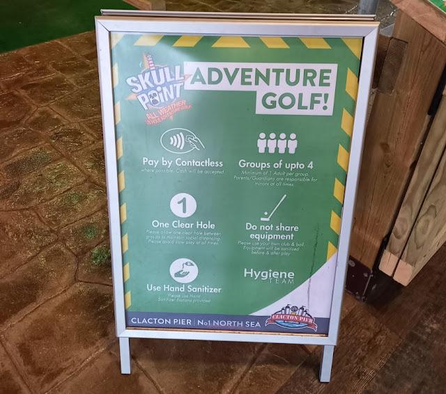 Skull Point Adventure Golf on Clacton Pier